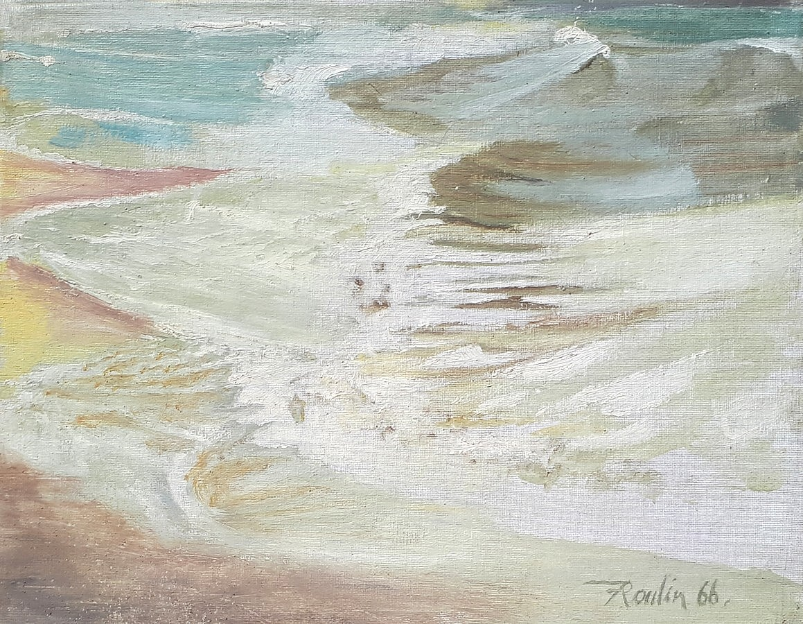 Vagues à Quarteira (Portugal) - 1966